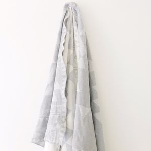 Never Used Max Studio Grey and White Blanket